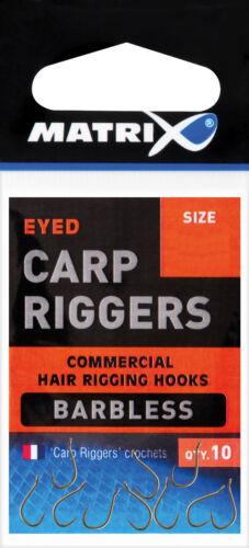 Fox Matrix Carp Riggers Barbless Hooks Crochet Hameçon stipphaken imperfections Hook