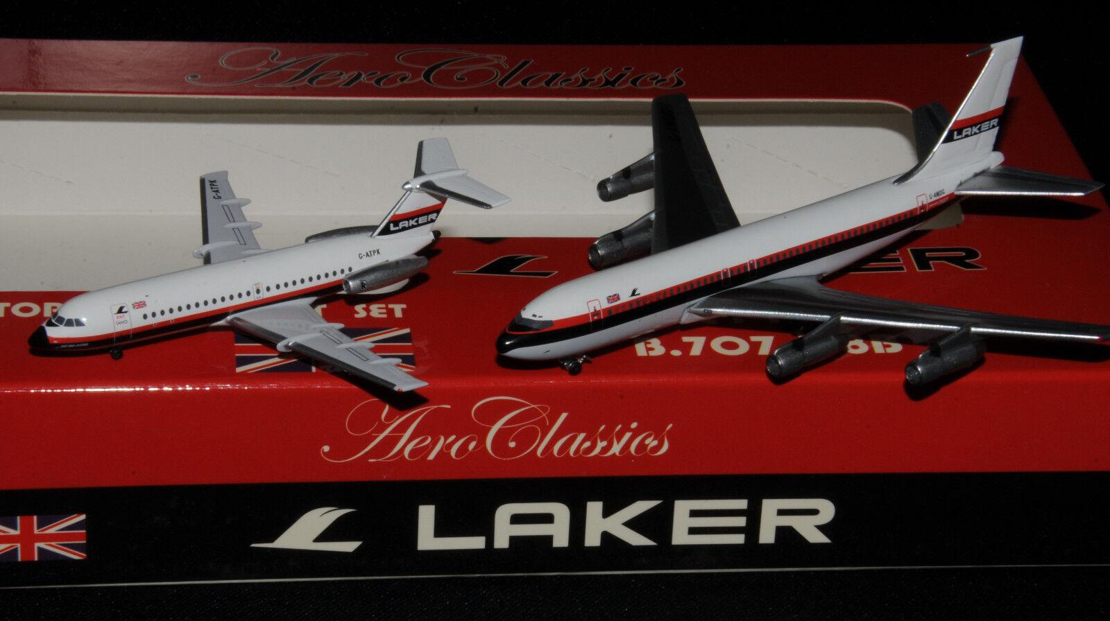 AeroClassics 1 400 Laker Airways b707-300 G-awdg & BAC 1-11 G-atpk