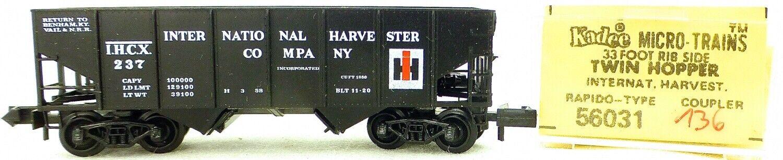Micro Trains Line 56031 Int Harvester 237 33' Twin Hopper Ovp 1 160  K136 Å