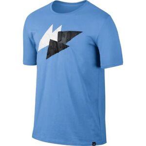c96847b50a94 Nike Air Jordan RETRO 7 Abstract T-Shirt University Blue Black White ...