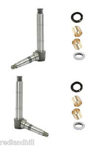 long tractor front axle steering spindle kit bushings. Black Bedroom Furniture Sets. Home Design Ideas