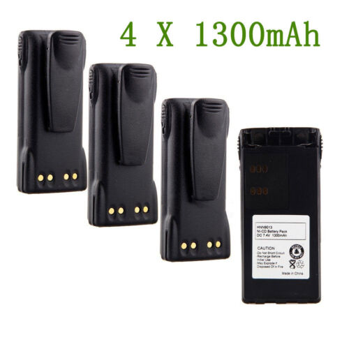 4x NEW HNN9008 HNN9009 Radio Battery for Motorola HT1250-LS HT1250-LS GP140 USA