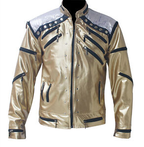 RARE MICHAEL JACKSON MJ Golden Beat It Jacket Punk Motorcycle Style