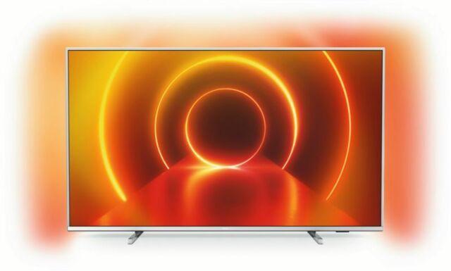 Philips LED-TV 65PUS7855/12 Hellsilber, SmartTV, 65 Zoll, Ambilight, Aussteller
