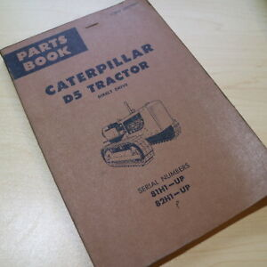 Details about CAT Caterpillar D5 Tractor Dozer Crawler Tractor Parts Manual  book catalog spare