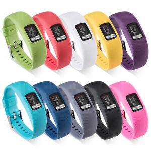 Replacement-Silicone-Band-Watch-Strap-For-Garmin-VivoFit-4-Tracker-Large-amp-Small