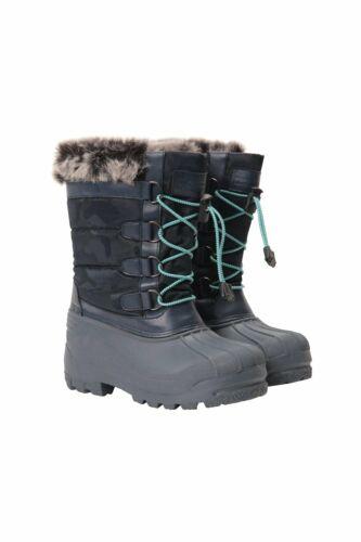 Mountain Warehouse Niño Niños Alaska Bota De Nieve Térmico Adorno de piel esponjosa en Marina