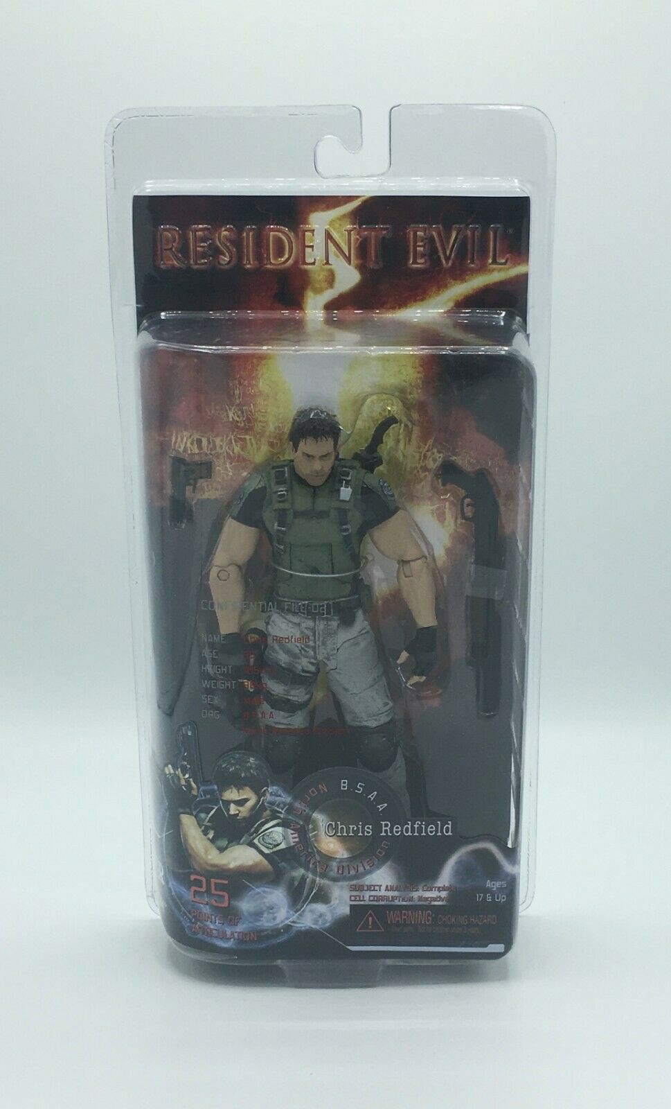 Resident Evil 5 Action Figure - Chris rotfield - New, Unopened