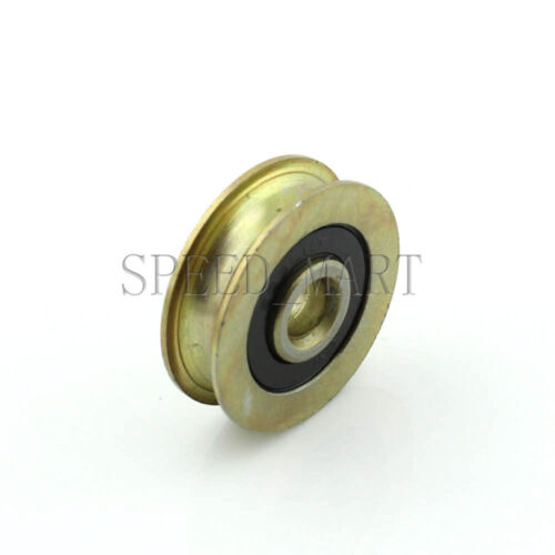 2pc 6.4x28.5x8mm U Groove Guide pulley Sealed Rail Ball Bearing