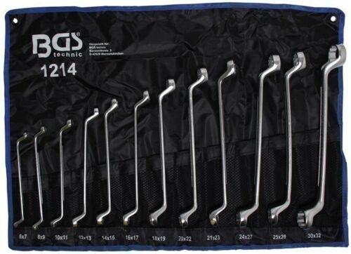 6x7-30x32 mm Doppel-Ringschlüssel-Satz 12-tlg.