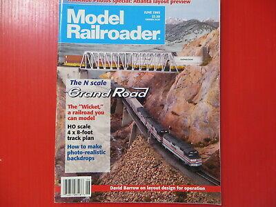MODEL RAILROADER JUNE 1995 BACKDROPS CLINCHFIELD LAYOUT SAWMILL C&S BOXCAR  | eBay