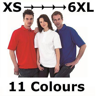 200gsm Mens Womens Active Pique Polo Shirt Size XS - 6XL Outsize Plus Size