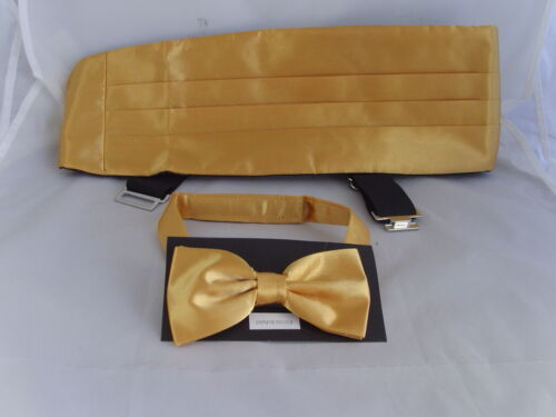 Any Pre-tied Polyester Bow tie and Cummerbund Set/>60 Colours /> P/&P 2UK/>1st Class
