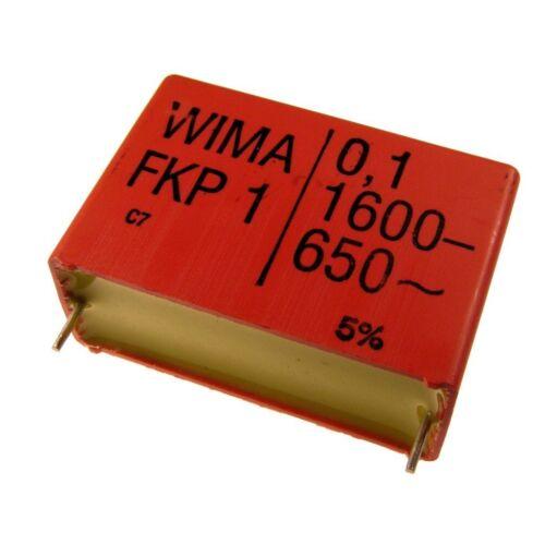 WIMA FKP1 Polypropylen Folien-Kondensator FKP 1 1600V 0,1uF 10/% 37,5mm 024087