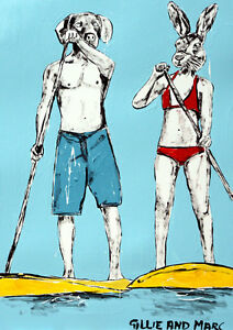 GILLIE-AND-MARC-Direct-from-artists-Authentic-Art-Print-039-Sun-039-039-Surf-039-039-Love-039