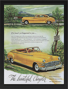 CHRYSLER-1946-VINTAGE-AD-REPRO-NEW-A3-FRAMED-PHOTOGRAPHIC-PRINT-POSTER