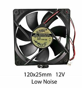 120mm-25mm-New-Case-Fan-12V-71CFM-PC-CPU-Cooling-Computer-Ball-Brg-2Wire-377
