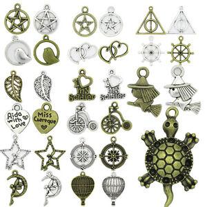 Antique-Silver-Bronze-Beautiful-Pendant-Charms-DIY-Bracelet-Jewelry-Making