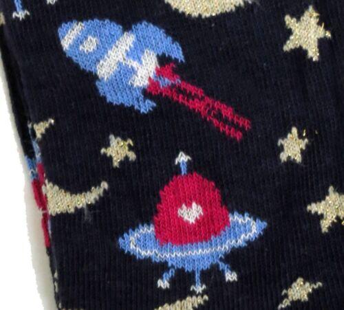 SOCKS UK 4-8 EUR 37-42 USA 6-10 LADIES MIDNIGHT BLUE SPACE ADVENTURE U.F.O