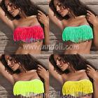 Bikini costume push up due pezzi nappa moda mare donna bkn-04 fluo