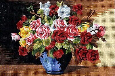 klobige Pfingstrose Blüte groß Gelochte Bedruckt Gobelin Kissen Kit