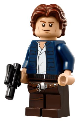 Lego Star Wars Genuine Han Solo Minifigure  -  Millennium Falcon -  (75192) New