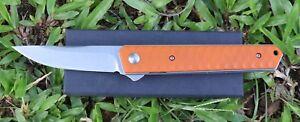 5-034-G10-Handle-ball-bearing-Folding-Knife-with-440C-Blade-Pocket-Knife