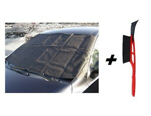Car-Windscreen-Anti-Frost-Winter-Protection-Cover-Mat-Ice-Frost-Scraper-Brush
