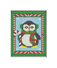 CHRISTMAS PENGUIN~BEADED BANNER PATTERN ONLY