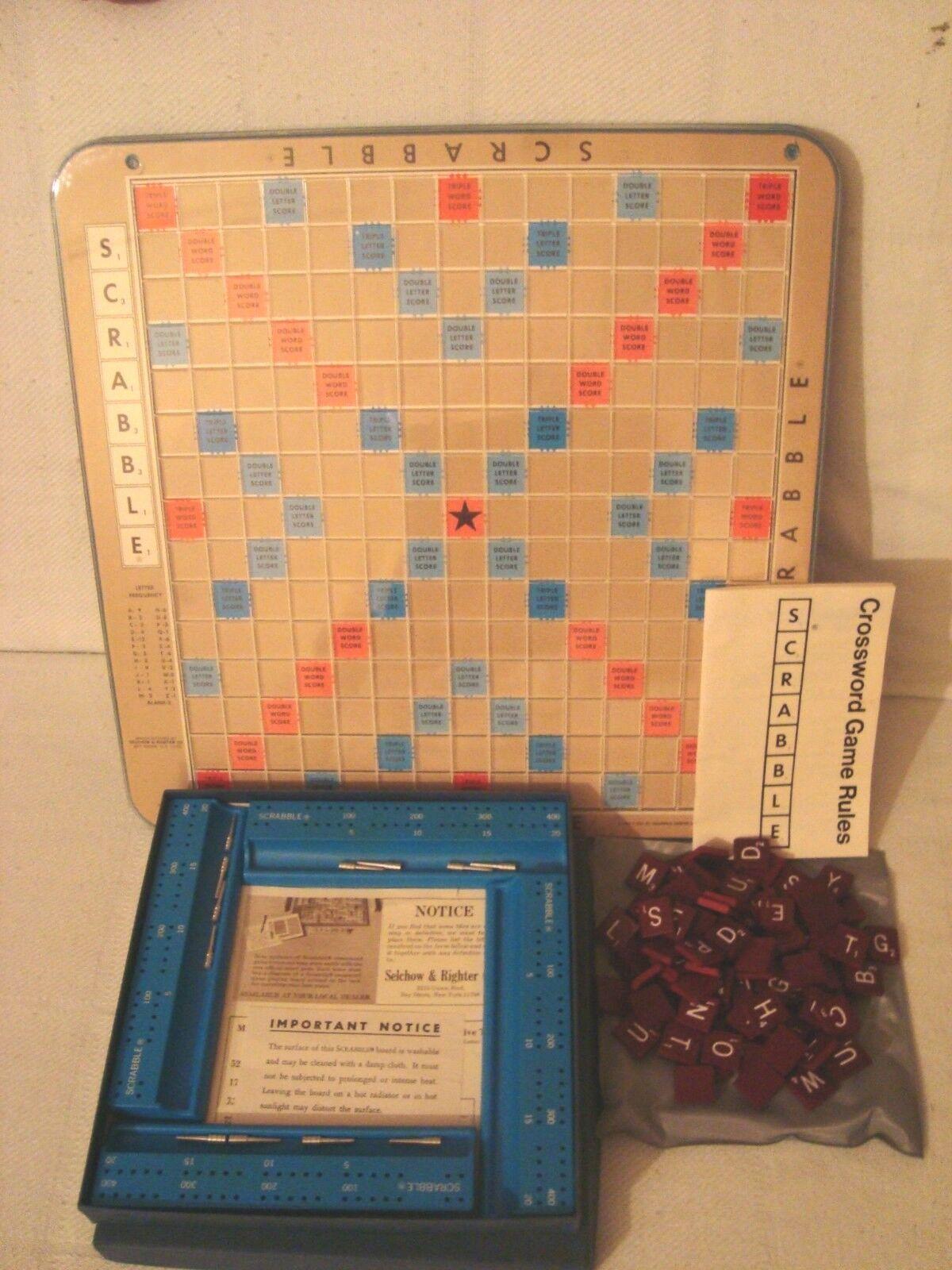 envío gratis Vintage 1976 Scrabble Deluxe Edition Crucigrama Juego Juego Juego Selchow & Righter  100% autentico