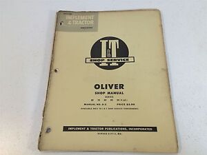Vintage-1953-Implement-amp-Tractor-Shop-Manual-Oliver-Series-60-70-80-90-99-0-2