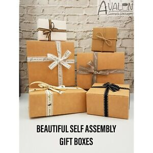 Gift Boxes Flat Pack Box For Gifts Jewellery Soap Empty Gift Box Cartons Uk Ebay