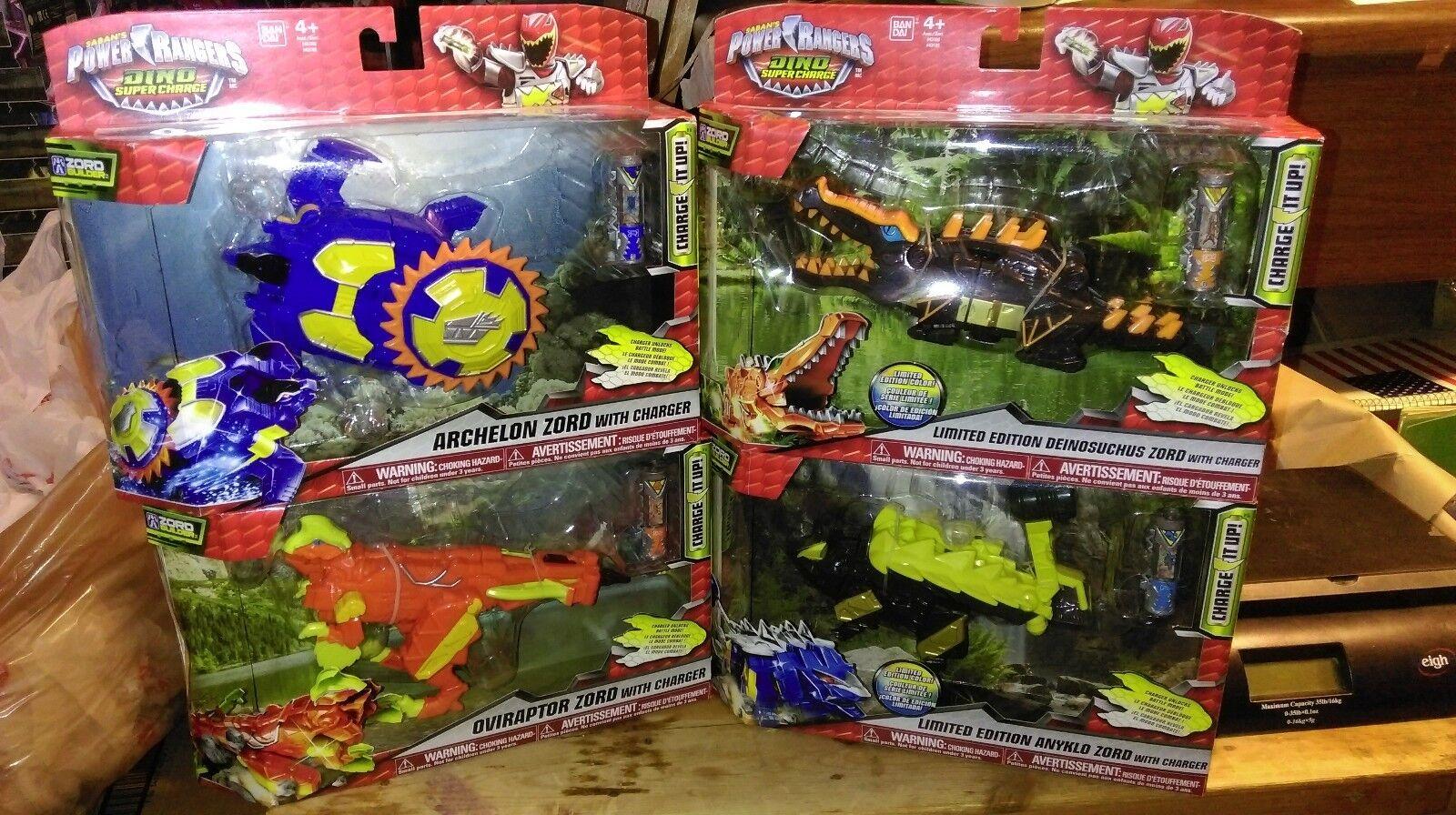 Power Rangers Dino cargo limitada Zord Deinosuchus archelon anyklo oviraptor Nuevo