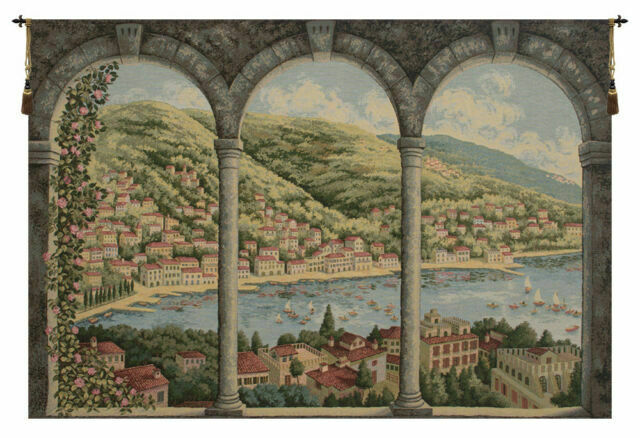 Como Lake Italian Wall Hanging A H 35 X W 53 Wall Tapestry For Sale Online Ebay