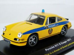 Unique-1-43-Porsche-911-USSR-Russian-Police-Militia-Handmade-Diecast-Model-Car