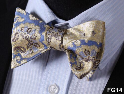 Floral Paisley Silk Jacquard Men Classic Wedding Self Bow Tie BowTie FG