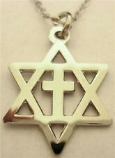 Messianic Cross Star of David Jews for Jesus Israel Necklace Charm PENDANT