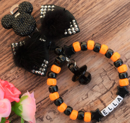 Personalised stunning pram charm in orange and black for baby boys ideal gift