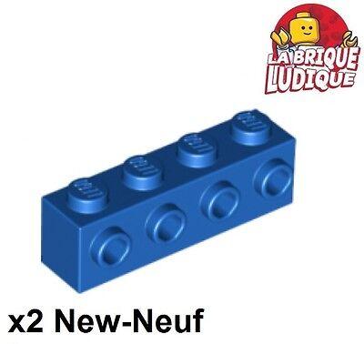 Accurato Lego - 2x Mattoncini Mattoni Per Volta 1x4 4 Studs On 1 Lato Blu/blu 30414 Nuovo Acquisto Speciale