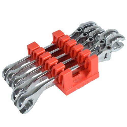 Flexi flexible de frein tête Jeu de clés polygonales ouvertes 8-12mm 5pc U S