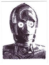 ACEO Sketch Card C-3PO See Threepio from Star Wars