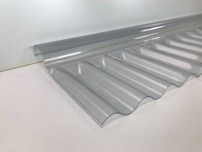 Trapezbleche & Wellplatten Baustoffe & Holz Professioneller Verkauf 76/18 Welle Firsthaube Glashell