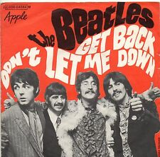 THE BEATLES COPERTINA disco 45 GET BACK Made in FRANCE only cover SOLO COPERTINA