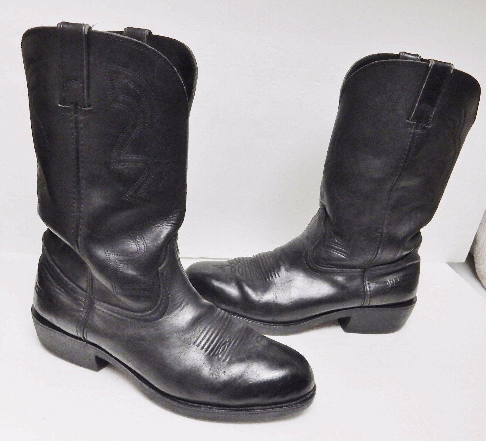 Durango Mens Boot FR200 Western Cowboy Ranch Work Roper Steel Toes BLACK 10.5 EE