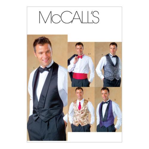 McCall/'s 4321 sewing pattern pour faire des Hommes Gilet Noeud Papillon Et Ceinture