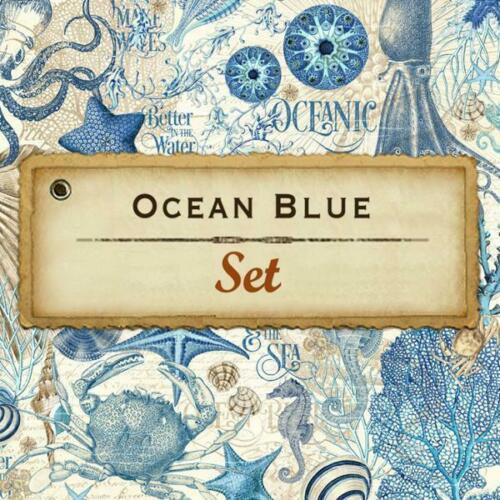 Graphic 45 OCEAN BLUE 8 Sheets 12x12 Paper Collection Sea Life Scrapbook