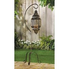hanging Moroccan pendant Lantern swag Candle holder lamp terrace & Floor Stand L