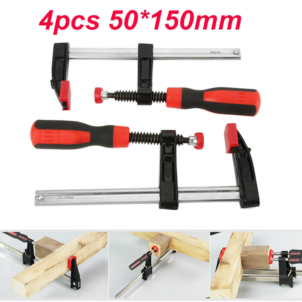 4pcs Heavy Duty Quick Grip F Woodworking Clamps Clips Wood Carpenter Tool Clamps For Sale Online