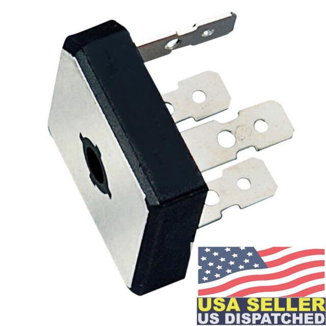 Metal Case 35 Amp 200 Volt Bridge Rectifier 1-1//8 Square w// Hole 35A 200V