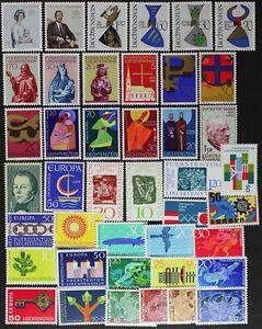 LIECHTENSTEIN-nice-stamp-collection-made-up-of-42-different-Mint-NH-lotAF284